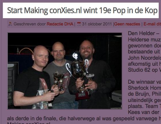 De winnaars van Pop in de Kop 2011