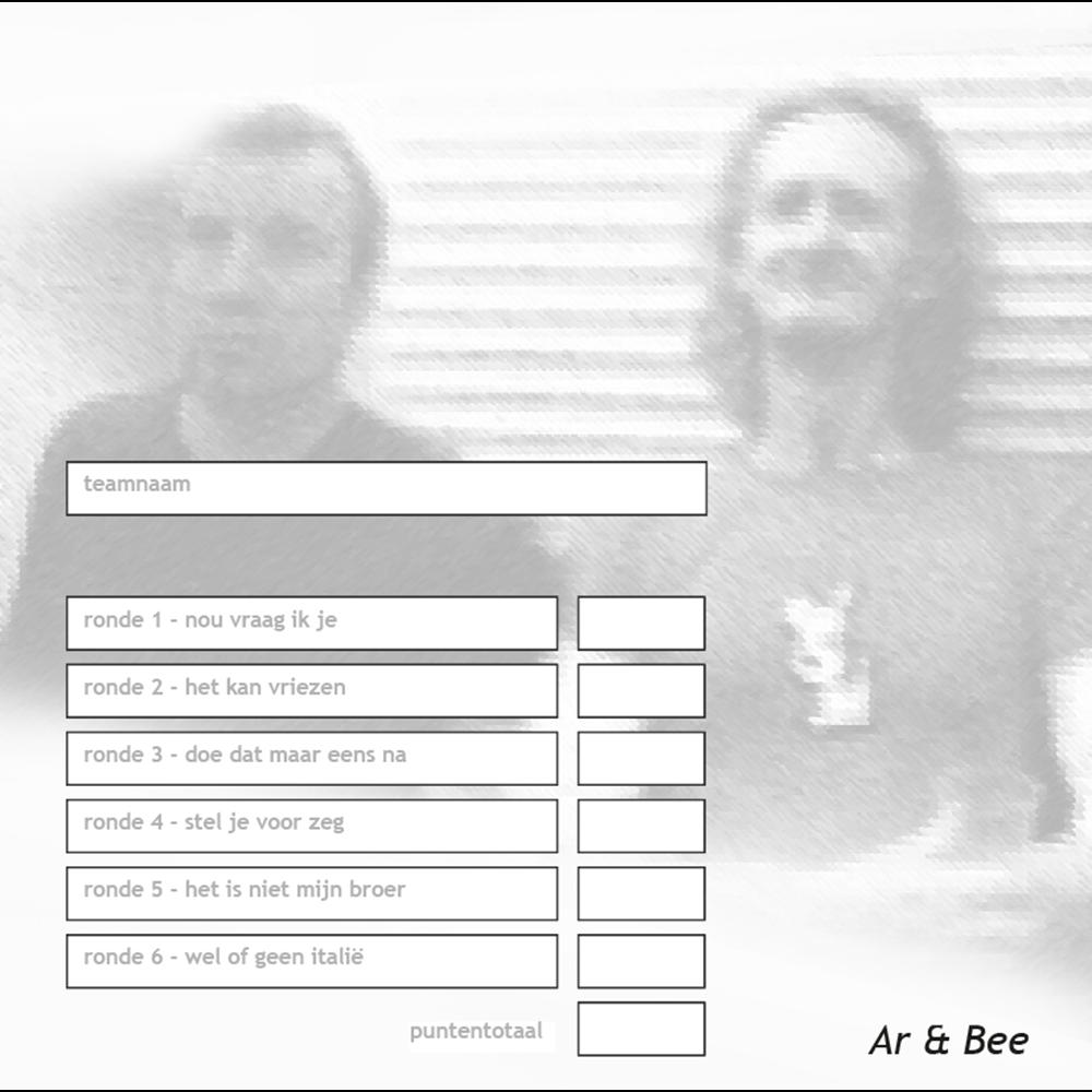 Monoquiz vinyloog Ar en Bee